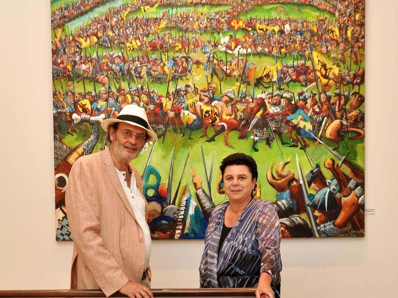 Carla Dejonghe opent unieke tentoonstelling over Guldensporenslag