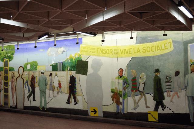 La remise en état des œuvres d'art dans les métros s'élève à 130.000 euros