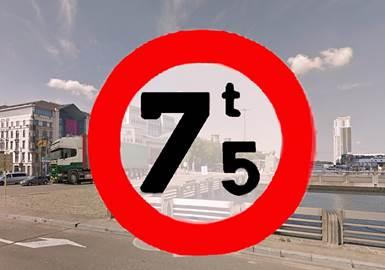 La Ville de Bruxelles interdit les poids-lourds dans le centre-ville
