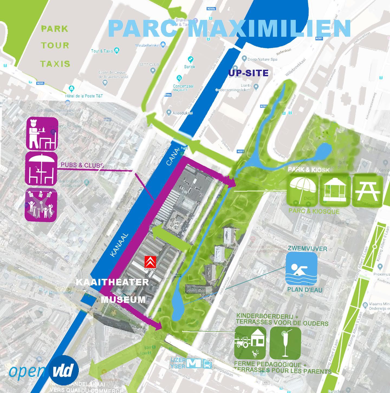 Els Ampe (Open Vld) veut réaménager le Parc Maximilien  et rouvrir la Senne.