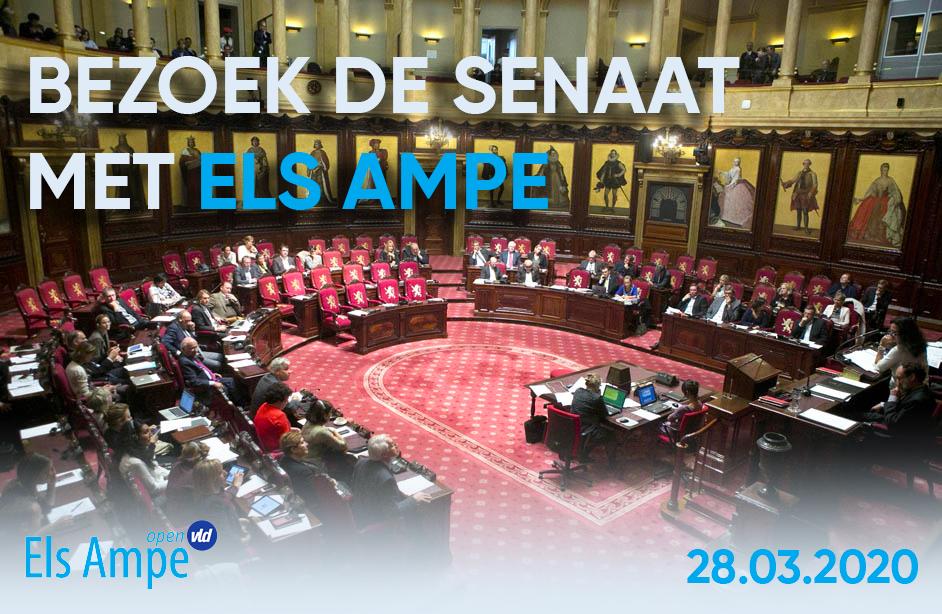 Bezoek de Senaat op 28 maart