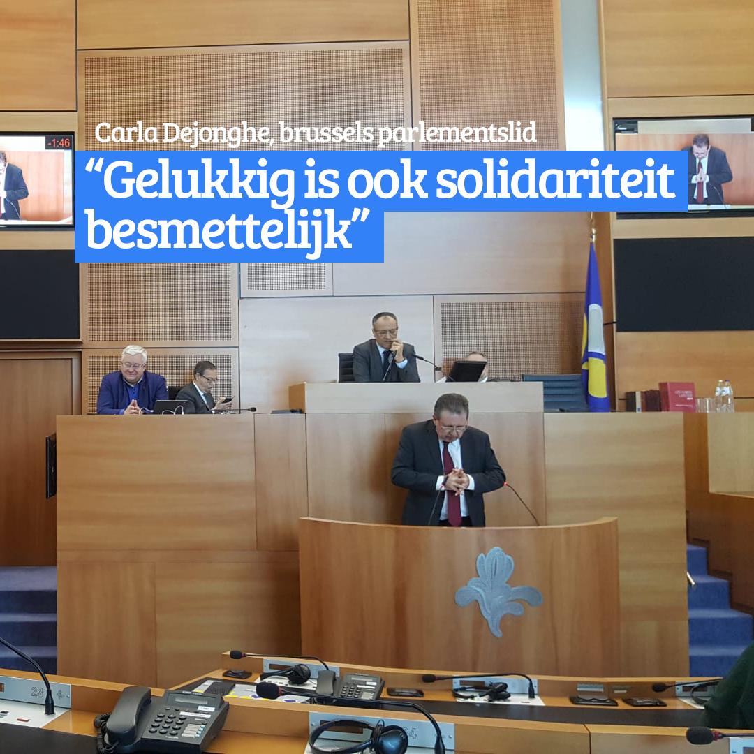 """Carla Dejonghe: """"Gelukkig is ook solidariteit besmettelijk"""""""