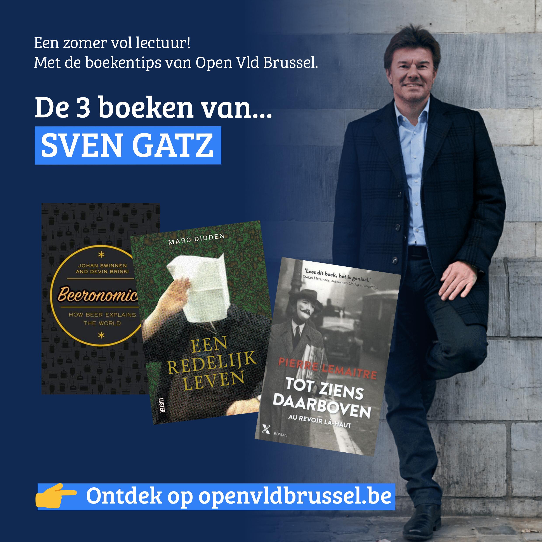 De boekentips van Open Vld Brussel met Sven Gatz