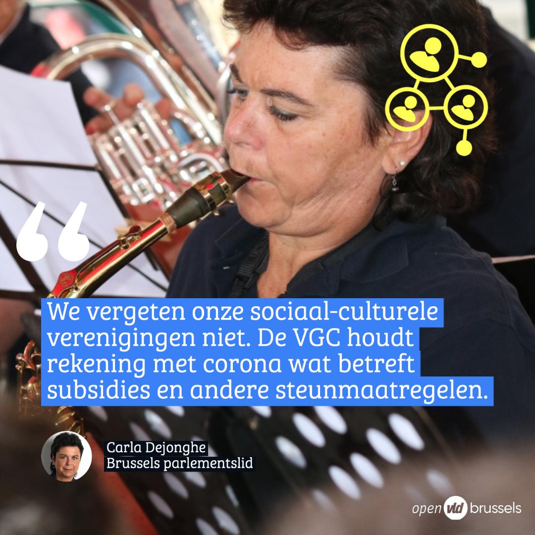 """Carla Dejonghe: ''De Vlaamse Gemeenschapscommissie vergeet onze lokale sociaal-culturele verenigingen niet"""""""