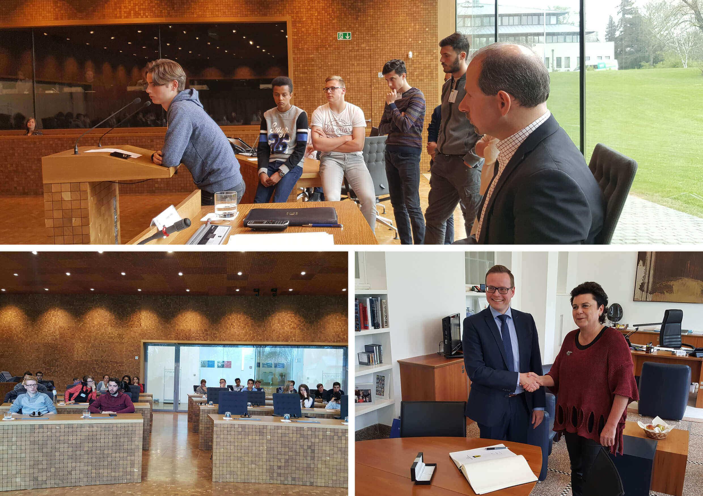 Echange d'idées au Parlement de la Communauté Germanophone