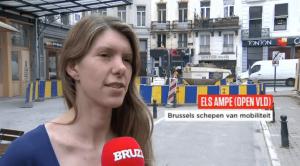 Els Ampe over de heraanleg van de Brusselse voetgangerszone