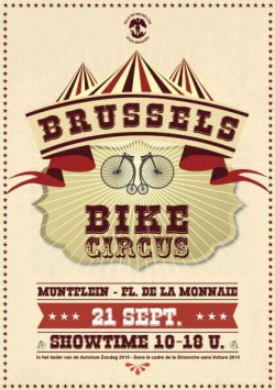 Stad Brussel geeft met Brussels Bike Circus ludieke toets aan Autoloze Zondag