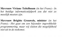 Els interpelleert minister Grouwels omtrent de sluiting van het Scientastic Museum