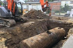 De bodemsanering van door mazouttanks historisch vervuilde gronden