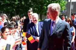 Samen met Koning Filip op bezoek bij tweetalige lerarenopleiding