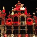 Stadhuis van Brussel kleurt zwart geel rood voor 21 juli