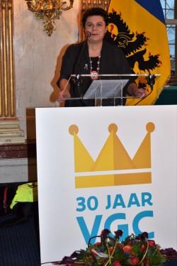 """Carla Dejonghe over de VGC: """"Op haar dertigste verjaardag ligt Brussel aan haar voeten"""""""