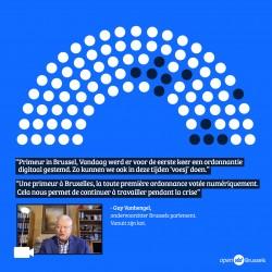 Primeur in Brussel - Allereerste digitaal gestemde ordonnantie.