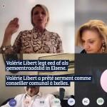 Belgische primeur, Valérie Libert legt eed af via videoconferentie.