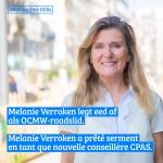 Melanie Verroken a prêté serment en tant que conseillère du CPAS à Saint-Gilles