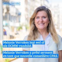 Melanie Verroken legt eed af als OCMW-raadslid in Sint-Gillis