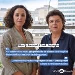 Carla Dejonghe et Khadija Zamouri lors du débat sur le plan de relance: ''Un ensemble de mesures pragmatiques adapté à chaque Bruxellois''