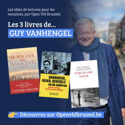 Les Livres conseillés par Open Vld Brussels. C'est au tour de Guy Vanhengel.