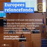 ''Tel de gewestelijke, gemeenschaps- en federale investeringen in Brussel op!''