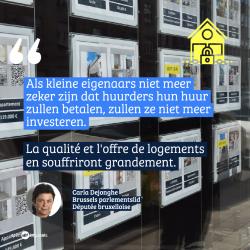 """Carla Dejonghe over verlenging verbod op uithuiszettingen in Brussel: """"OCMW's moeten tussenkomen bij achterstallige huur"""""""