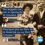 « Pourquoi ne pas autoriser les couples à se marier en plein air ? » (Open MR Woluwe-Saint-Pierre)