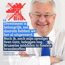 """Guy Vanhengel """"Divestment is belangrijk, en net daarom hebben we het al uitgevoerd"""""""