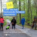 """Open Vld en MR bezoeken samen de Tervurenlaan:  """"Het bestaande fietspad moet gerenoveerd worden"""""""