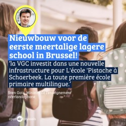 VGC Pistache Schaarbeek: Un nouveau bâtiment scolaire pour la toute première école primaire multilingue de Bruxelles