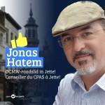 Jonas Hatem succede Marc Daniëls comme conseiller CPAS à Jette.