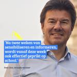 Het nieuwe schooljaar is een kans om de vaccinatiegraad in Brussel te doen stijgen.