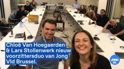 Chloë Van Hoegaerden en Lars Stollenwerk nieuw voorzittersduo van Jong Vld Brussel.