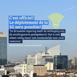 5G komt er! Brusselse regering keurt verhoging van de stralingsnorm goed!