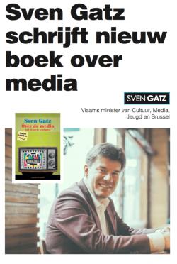 """Sven Gatz: """"Over de media heb ik niets te zeggen"""""""