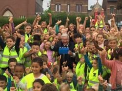 De Groene School Anderlecht legt eerste steen van nieuw schoolgebouw