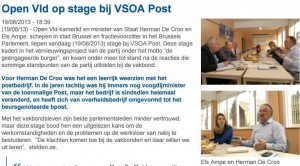 Open Vld op stage bij VSOA Post