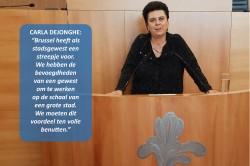 """Carla Dejonghe: """"Brussel heeft de bevoegdheden van een gewest om te werken op de schaal van een grote stad."""""""