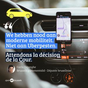 """Carla Dejonghe over verbod op smartphones bij Uber: """"We hebben nood aan moderne mobiliteit. Niet aan Uberpesten."""""""