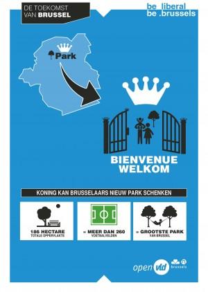 Koning kan Brusselaars een nieuw park schenken